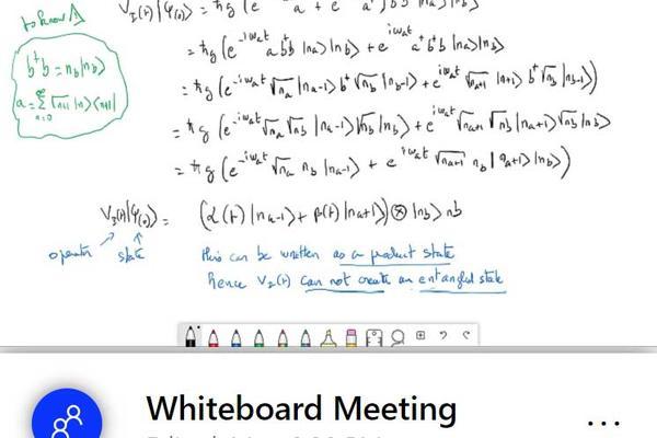 Using an electronic whiteboard